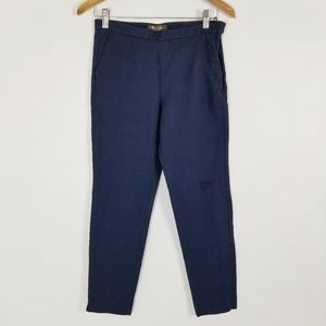 Loro Piana Navy Crop High Rise Tailored Pant 42